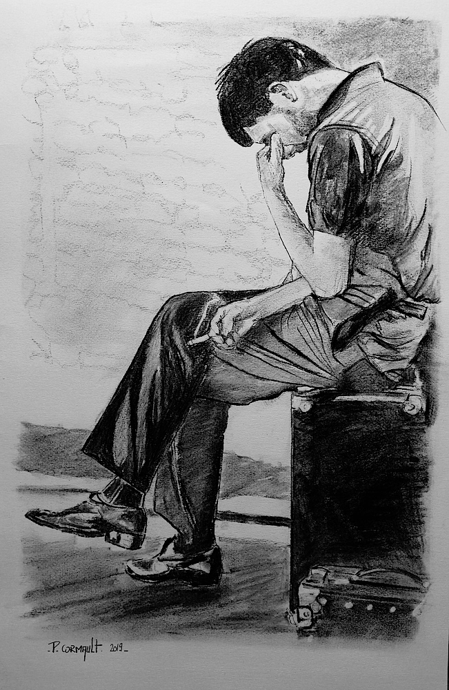Ian Curtis by Philippe